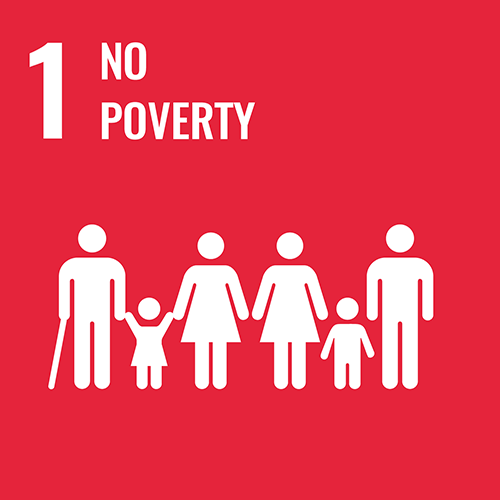 UN Sustainable Development Goals icon for no poverty