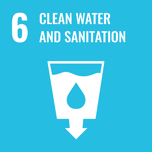 UN Sustainable Development Goals icon for CLEAN WATER AND SANITATION