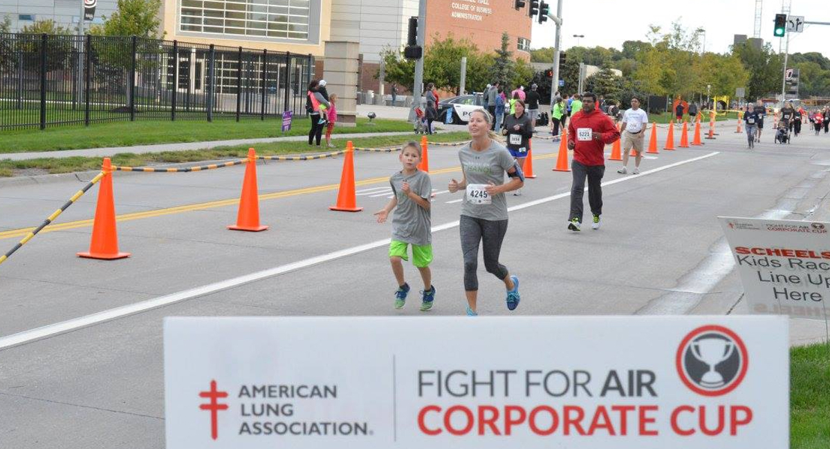 Runners during the Corporate Cup race