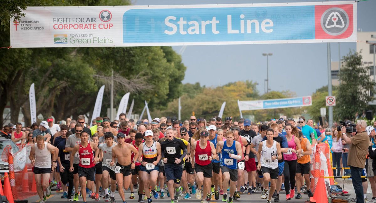The start line of the Corporate Cup race